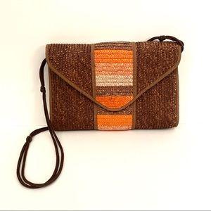 Vintage Orange Woven Purse